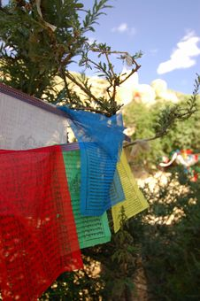 Free Prayer Flags Royalty Free Stock Photography - 1088837