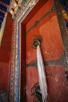 Tibetan Door Stock Image