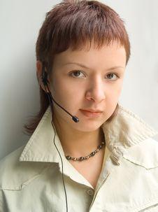 Free Woman Operator Royalty Free Stock Photos - 1089468
