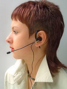 Free Woman Operator Stock Photo - 1089560