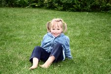 Free Girl On The Grass Stock Photography - 1089842
