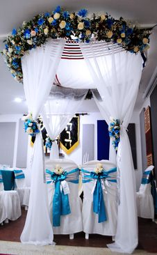Free Blue, Flower, Ceremony, Function Hall Stock Images - 108008014