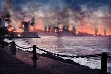 Free Sky, Sea, Smoke, Phenomenon Stock Photography - 108042332