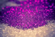 Purple And Silver Glitter Filtered Royalty Free Stock Photography