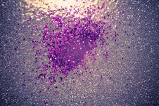 Purple And Silver Glitter Filtered Royalty Free Stock Photos