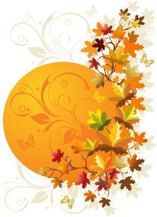 Free Autumn Floral Background Stock Photography - 10830142
