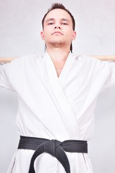 Free Black Belt Fighter Royalty Free Stock Photography - 10857167