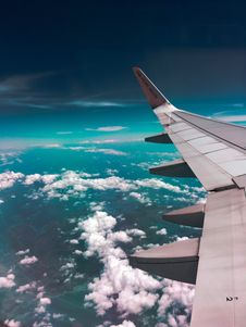Free Airplane Wing Towards Clouds Royalty Free Stock Photos - 108798398
