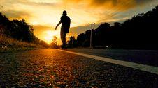 Free Silhouette Photo Of Man Riding Skateboard Royalty Free Stock Image - 108798456