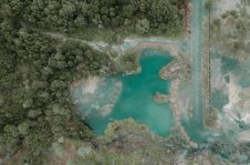 Free Aerial Photography Of Blue Lake Royalty Free Stock Photo - 108798515
