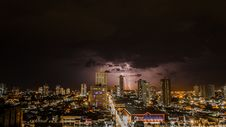 Free Thunderstorms Above City During Night Time Royalty Free Stock Images - 108798609