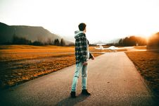 Free Photography Of A Man Wearing Gray Jacket Looking Back Stock Images - 108798744