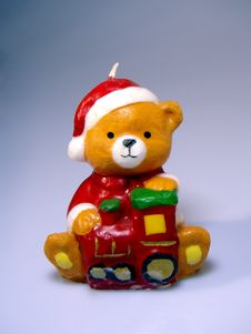 Free Christmas Teddy Royalty Free Stock Photography - 10890437