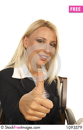 Free Beautiful Blonde - Thumbs Up Royalty Free Stock Images - 1093579