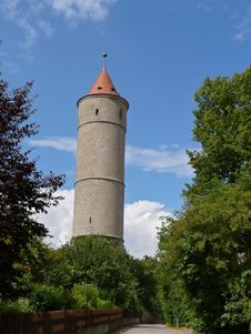 Watchtower In Dinkelsbuehl, Bavaria Royalty Free Stock Photography