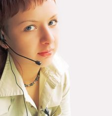 Free Woman Operator Stock Image - 1090701