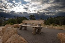 Free Lonely Wooden Bench Stock Photography - 1090952
