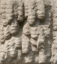 Free Carved Stone Texture Royalty Free Stock Photos - 1091588