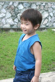 Free Boy In Blue Singlet Royalty Free Stock Photo - 1091775