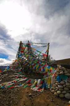 Free Prayer Flags Stock Photography - 1091782