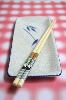 Free Japanese Dish & Chopstick Royalty Free Stock Images - 1092029