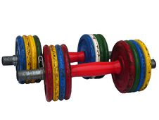 Weightlifting Dumbbell Bars Royalty Free Stock Photo