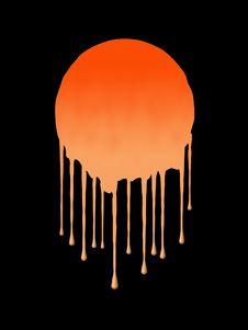 Free Orange Splat Royalty Free Stock Photos - 1092628