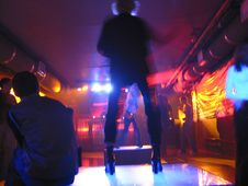 Free Dancing In The Club Stock Image - 1093001