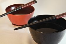 Free Japanese Bowls Royalty Free Stock Image - 1094236
