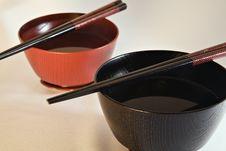 Free Japanese Bowls Royalty Free Stock Image - 1094236