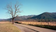 Cades Cove Christmas Day Drive Royalty Free Stock Photo