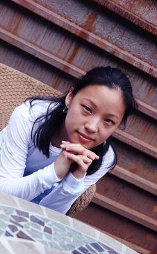 Free Korean Woman Relaxing Stock Image - 1094581