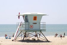 Free Lifeguard Station 1 Stock Image - 1095081