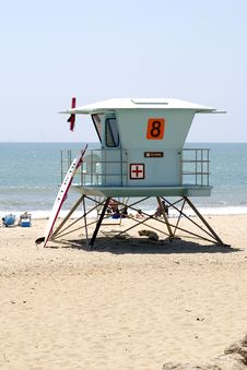 Free Lifeguard Station 2 Royalty Free Stock Photo - 1095085