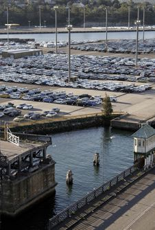 Free Harbour Car Park Royalty Free Stock Photography - 1095257