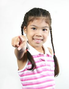 Free Cute Little Girl 8 Royalty Free Stock Image - 1095306