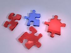 Free 3d Puzzle Stock Photo - 1095420