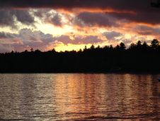 Free Sunset On St. Regis Kanoe Wilderness Area, NY Royalty Free Stock Photo - 1096975