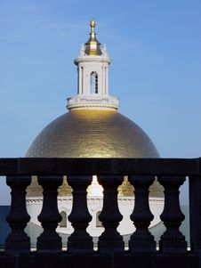 The Golden Dome Of The Massachusetts State House Royalty Free Stock Photography