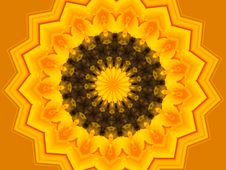 Free Vivid Yellow Kaleidescope Stock Images - 1098644