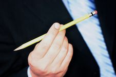 Free Business Man With Pencil Stock Photo - 1099070