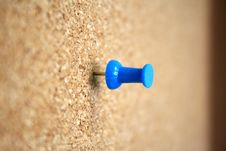 Free Lonely Blue Thumb Tack Stock Photos - 1099883