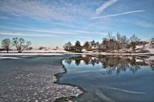 Free Reflection, Water, Sky, Winter Royalty Free Stock Image - 109022996