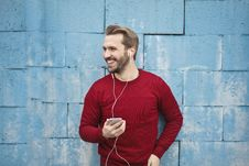 Free Photo Of A Man Listening Music On His Phone Royalty Free Stock Image - 109219906