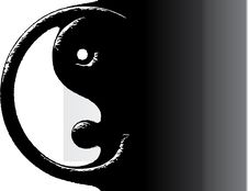 Free Ying Yang Vector Illustration Royalty Free Stock Photos - 10949888