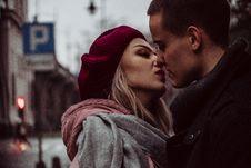 Free Close Up Photograph Of Woman Kissing Man Royalty Free Stock Image - 109516356