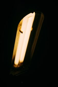 Free Glowing Lamp In The Dark Stock Photo - 109585770