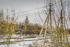 Free Old Factory In The Winter Stock Photo - 109585850
