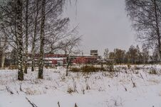 Free Old Factory In The Winter Royalty Free Stock Images - 109585899