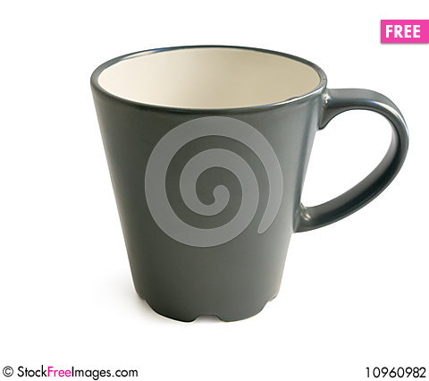 Free Black Cup Isolated On White With Clipping Path Stock Photography - 10960982